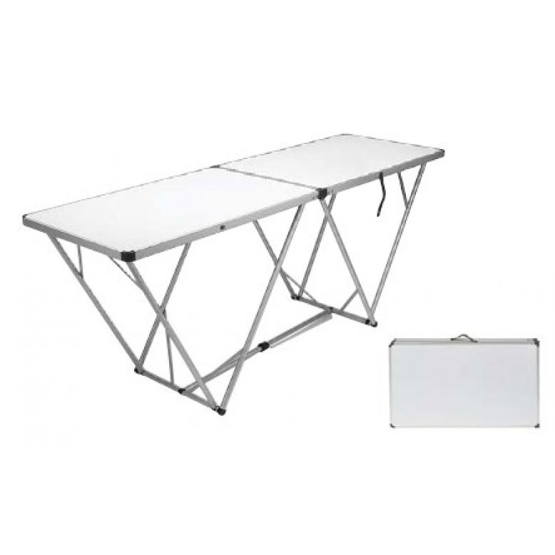 Tavolo pieghevole richiudibile in alluminio e mdf - Tavolo richiudibile ...
