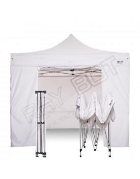 Gazebo Pieghevole 2x2 bianco RAY BOT + 4 teli laterali PVC 350g 2x2RW