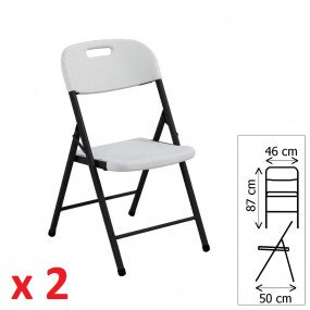 Sedia pieghevole quadrata n. 2 pezzi  sedia2