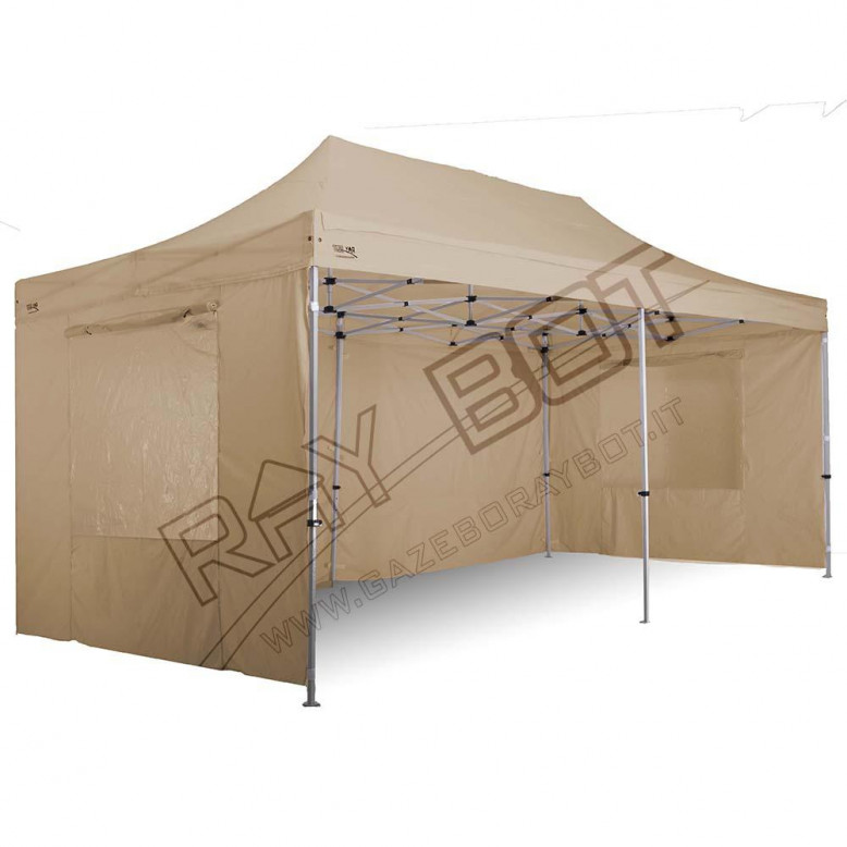 Gazebo pieghevole 3x6 alluminio top exa 45mm ecru for Gazebox prezzo