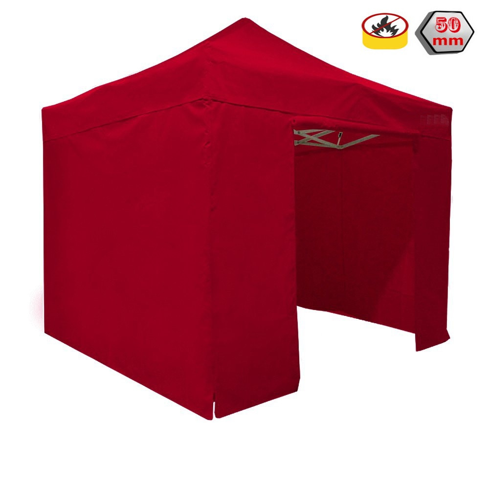 gazebo rapido 4x4 alluminio rosso exa 55mm senza laterali prezzo online. Black Bedroom Furniture Sets. Home Design Ideas