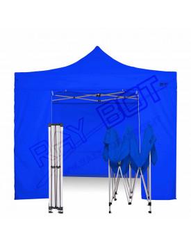 Gazebo Pieghevole 3x3 blu RAY BOT gambo 40X40 + 4 teli laterali PVC 350g 3RB40