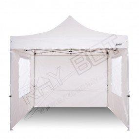 Gazebo Pieghevole 2x3 bianco RAY BOT + 4 teli laterali PVC 350g FINESTRATO 2x3RF
