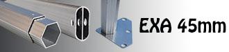 Gazebo alluminio 45mm